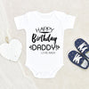 Boho Baby Clothes - Baby Shower Gift - Happy Birthday Daddy Custom Baby Onesie® - Personalized Baby Gift - Personalized Baby Onesie®