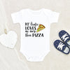 New Aunt Baby Onesie® - Cute Baby Clothes - My Aunt loves me more than Pizza Onesie® - Aunt Onesie®