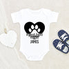 Newborn Baby Gift - Personalize Baby Onesie - My Best Friend Has Paws Onesie - Dog Lover Baby Custom Onesie