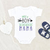 Boys Mother's Day Onesie® - Just a Boy Who Loves His Mama Onesie® - Mother's Day Onesie®