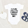 Future Ladies Man Current Mama's Boy Onesie® - Cute Mother's Day Onesie - Mother's Day Baby Clothes