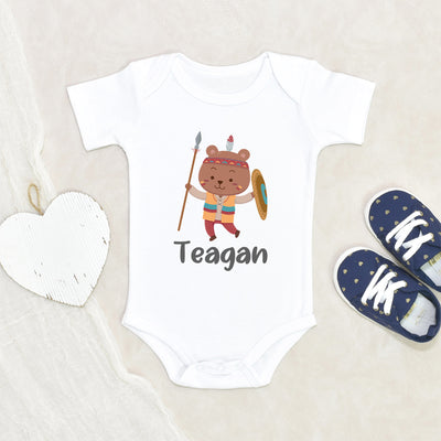 Personalized Boy Coming Home Onesie - Bear Custom Name Onesie - Baby Shower Gift - Baby Boy Clothes - Personalized Baby Boy Name Onesie