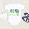 New Baby Gift - Baby Shower Gift - Elephant Infant Onesie® - Hospital Gift - Personalized Baby Onesie®