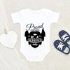 Beard Onesie - Funny Dad Baby Onesie - Father's Day Gift From Baby - Cute Baby Clothes - Proud Owner Of A Bearded Dad Baby Onesie