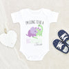 Custom Name Onesie - Big Brother Onesie - Dinosaur Big Brother Announcement Onesie - Personalized Baby Onesie
