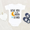 Cute Baby Clothes - Love You To The Moon And Back Onesie® - Moon Baby Onesie® - Baby Onesie®- Baby Clothes