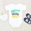 Cute Baby Shower Gift - Nap? No Thanks I Thought You Said Snack Onesie - Nap Time Baby Onesie