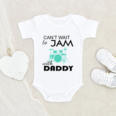 Music Baby Onesie - Future Rockstar Musician - Rock Baby Clothes - Band Member Baby Onesie - Jam With Daddy Baby Onesie