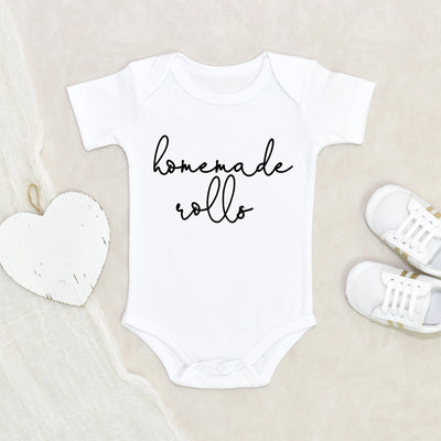 Thanksgiving Baby Onesie® - Homemade Rolls Baby Onesie® - Cute Fall Onesie® - Funny Baby Clothes