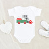 Cute Valentines Day Onesie® - I Dig You Tractor Onesie® - Valentines Baby Clothes
