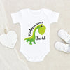 Funny Baby Clothes - Boho Baby Onesie - Boy Name Onesie - Babysaurus Baby Name Personalized Onesie - Customized Onesie - Cute Onesie
