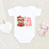 Cute Valentines Day Baby Girl Onesie® - I Like You A Sloth Onesie® - Valentines Sloth Baby Onesie®