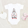Valentines Robot Love Machine Onesie® - Cute Valentines Day Clothes - Love Machine Baby Onesie®