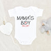 Mothers Day Baby Onesie® - Baby Boy Clothes - Mamas Boy Baby Clothes - Mama's Boy Onesie® - Personalized Baby Gifts