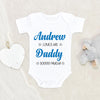 Custom Boys Name Onesie® - Cute Father's Day Onesie® - Personalized Baby Boys Onesie® -  Unique Baby Onesie®