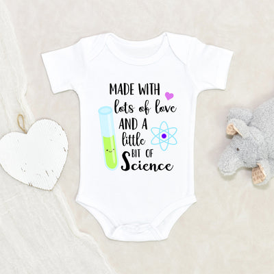 Made With Love And Science Onesie® - IVF Baby Onesie® - Cute In Vitro Fertilization Baby Clothes