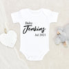 Pregnancy Reveal - Customized Baby Clothes - Baby Onesie Announcement - Baby Announcement Onesie - Personalized Baby Onesie - Pregnancy Announcement Onesie