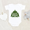 Little Camper Baby Clothes - Adventure Onesie® - It's All Good In The Woods Onesie® - Hiking Baby Onesie®