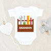 Baby Boy Clothes - Baby Shower Gift - Custom Name Tools Onesie - Construction Tools Personalized Onesie