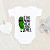 Cute Pickle Baby Onesie® - I'm Kind Of A Big Dill Onesie® - Cute Baby Clothes