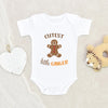 Cutest Little Ginger Onesie® - Funny Holiday Baby Clothes - Ginger Baby Onesie® - Cute Gingerbread Man Baby Onesie®