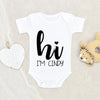 Personalized Hi Onesie - Coming Home Onesie - Hi Onesie - Baby Coming Home Onesie - Hi World Onesie