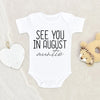 Custom Onesie® - Baby Newborn Personalization Onesie® - Auntie To Be Reveal Onesie® - Pregnancy Reveal Aunt Baby Onesie®