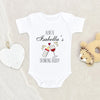 Funny Baby Gift From Auntie - Cute Auntie Baby Onesie - Aunties Drinking Buddie Baby Onesie - Personalized Baby Shower Gift From Auntie