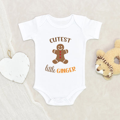 Cutest Little Ginger Onesie - Funny Holiday Baby Clothes - Ginger Baby Onesie - Cute Gingerbread Man Baby Onesie