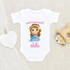 Ocean Onesie® - Mermaid Themed Onesie® - Mermaid Onesie® - Personalized Name Onesie® - Mermaid Baby Onesie®