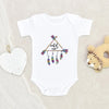 Boho 1st Birthday Girl Onesie® - Cute Baby Girl Birthday Wild One Onesie® - One Year Old - First Birthday Onesie®