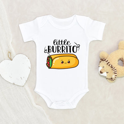 Funny Baby Shower Gift - Taco Onesie® - Little Burrito Onesie® - Funny Baby Clothes - Food Onesie®