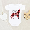Wolf Baby Clothes - Cute Baby Onesie - Baby Wolf Onesie - Personalized Wolf Onesie - Cute Baby Shower Gift