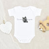 Halloween Baby Onesie® - Too Cute To Spook Baby Onesie® - Cat Baby Clothes - Cute Fall Onesie®