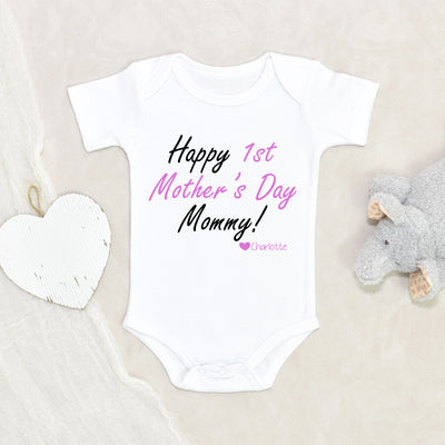 Personalized Baby Onesie - First Mother's Day Gift - New Mom Gift - Mothers Day Onesie