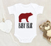 Cute Bear Baby Onesie - Baby Bear Clothes - Bear Onesie - buffalo plaid clothes - Baby Onesie