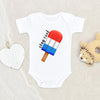 Funny Stay Cool Popsicle Baby Onesie® - Independence day Onesie® - 4th of July Clothes - Fourth of July Onesie®