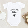 Cute I Love My Auntie Onesie®- Custom Aunt Onesie® - Aunt Baby Clothes