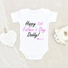 Baby Girl Onesie - Personalized Baby Onesie - First Fathers Day Onesie - Fathers Day Gift