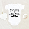 Personalized Mustache Onesie - Mommy's Boy Onesie - Custom Baby Boy Onesie - Mama's Boy Baby Clothes - Mommy's Little Man Onesie - Funny Boy Onesie - Baby Shower Gift