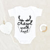 Personalized Hunting Onesie - Baby Boy Onesie - Baby Girl Onesie - Crawl Walk Hunt Onesie - Baby Hunting Onesie - Baby Shower Gift - Hunting Dad Onesie