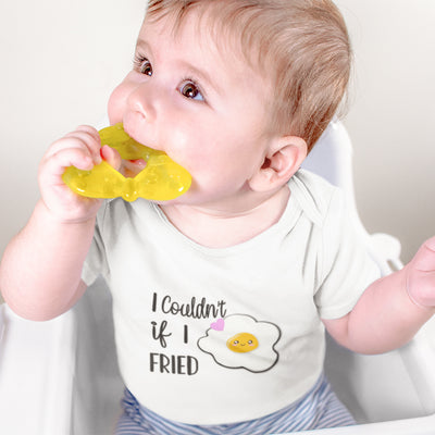 I Couldn't If I Fried Onesie - Funny Eggs Baby Onesie - Fried Egg Onesie - Food Onesie