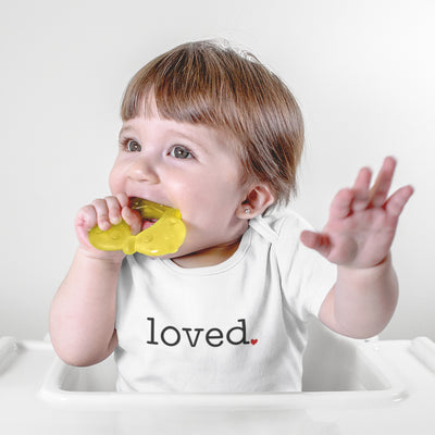 I Am Loved Baby Onesie® - Loved Baby Onesie® - Cute Valentines Day Baby Clothes