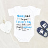 Baby Father's Day Onesie - First Father's Day Onesie - Father's Day Onesie - Father's Day Gift - Baby Boy Onesie - Funny Father's Day Onesie