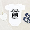 Gamer Dad Onesie - Personalized Boy Onesie - Player 3 Onesie - Pregnancy Announcement Onesie - Birth Announcement Onesie - Newborn Baby Clothes - Baby Shower Gift