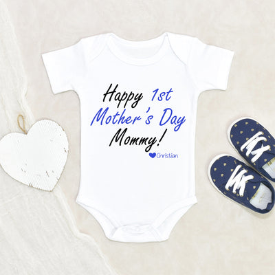Personalized Baby Mother's Day - Happy Mothers Day Onesie - Mothers Day Onesie - Baby Boys Mothers Day Onesie - Boys Mothers Day Onesie