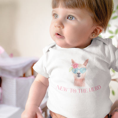 New to the Herd Girl Onesie® - Cow Onesie® - Baby Girl Farm Onesie® - Country Baby - Cow Baby Girl Shower Gift