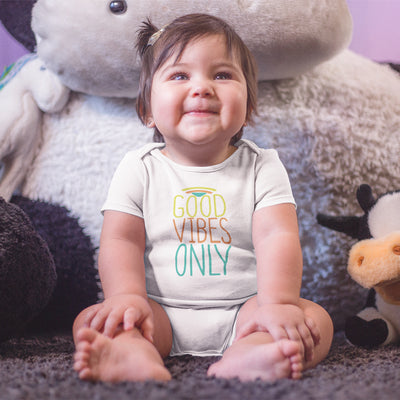 Summer Onesie® - Good Vibes Only Baby Onesie® - Cute Positivity Onesie®