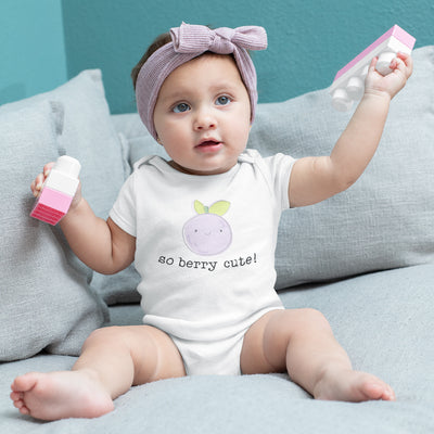 Blueberry Baby Onesie - Cute Baby Onesie - Fruit Baby Onesie - Modern Baby Onesie - So Berry Cute Onesie