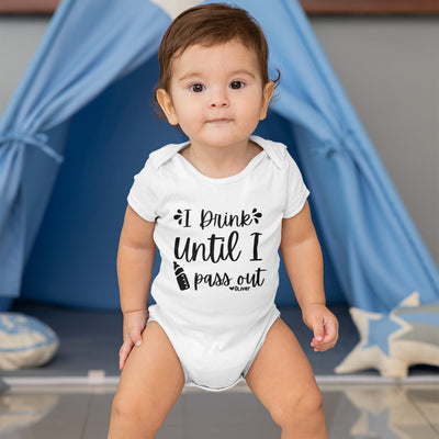 Personalized Baby Onesie - I Drink Until I Pass Out Onesie - Funny Boy Onesie - Baby Shower Gift - Custom Onesie - Funny Girl Onesie